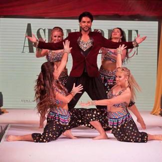 Karan Pangali and KSPARK Bollywood dancers perform at Asian Bride Live in London