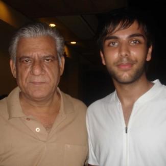 Karan Pangali and Bollywood actor Om Puri