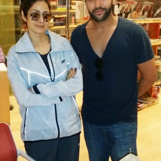 Karan Pangali and Bollywood actress Sridevi Kapoor. She is the star of hit films Mr. India (1987), Chandni (1989), Nagina (1986), ChaalBaaz (1989), Lamhe (1991),