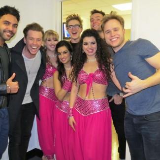 Karan Pangali and KSPARK Bollywood dancers with English pop rock/pop punk band McFly and Olly Murs