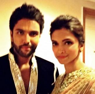 Karan Pangali with Happy New year star Deepika Padukone