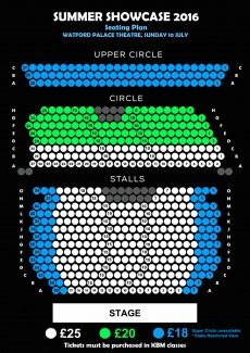 Seating Plan for Summer Showcase 2016