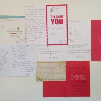 KBM Thank you cards