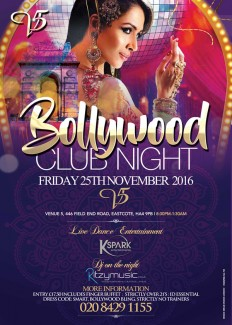 Bollywood Club Night at Venue 5