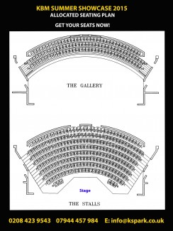 Theatre seating plan, tickets on sale now