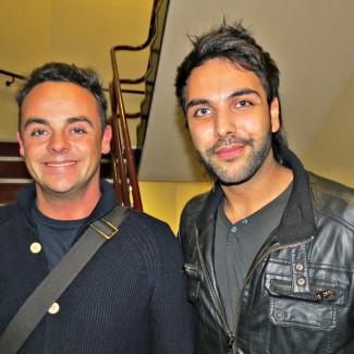 Karan with Ant at ITV studios