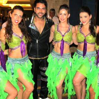 Karan Pangali with the sensational KSPARK Bollywood Dancers