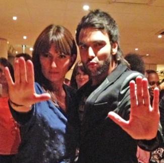 Karan Pangali with Davina McCall