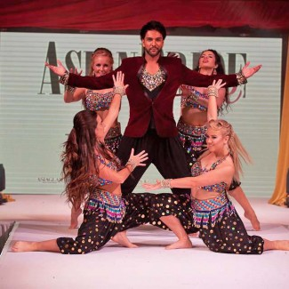 Karan Pangali and KSPARK Bollywood dancers perform at Asian Bride Live in London