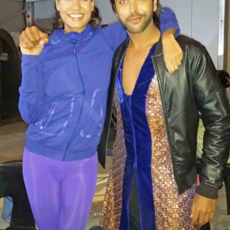 Karan Pangali with Bollywood actress and model Lisa Haydon, the star of Bollywood film Queen.