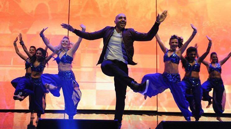 Tommy Sandhu and KSPARK dancers