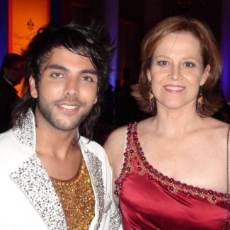 Karan with Hollywood actress Sigourney Weaver
