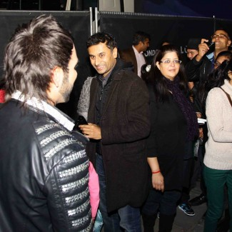 Karan meets and greets fans after his headline performance at Diwali on Trafalgar Square