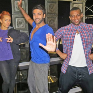 Karan Pangali teaches Indian Dance to JLS singer Oritse Williams and AJ Azari