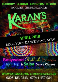 Bollywood Classes start April 2018