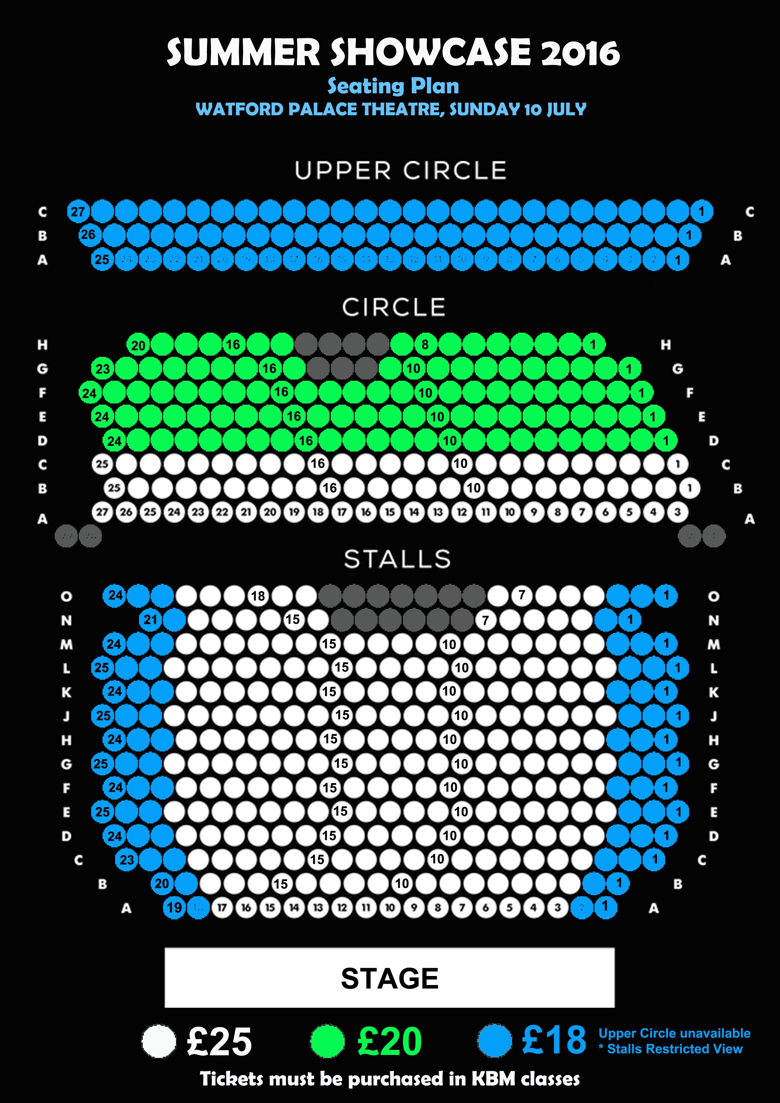 KBM SUMMER SHOWCASE seatingplan