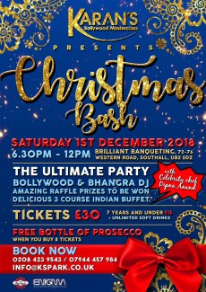 KBM Christmas Bash, Saturday 1st December