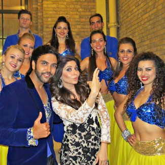 'Baby Doll' & 'Lovely' Bollywood singer Kanika Kapoor with Karan & KSPARK Bollywood dancers