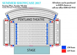 Seating Plan for Summer Showcase 2017