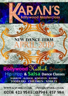 April 2019 New Bollywood Dance Classes